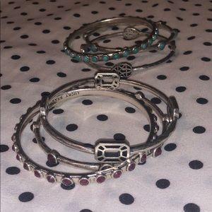 Lucky Brand 2 sets of multiple bracelets bundle